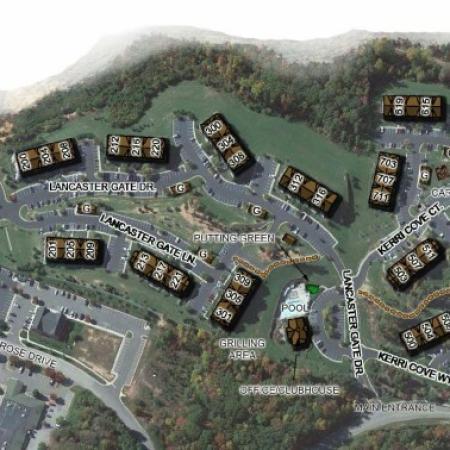 Site Plan of The Park at Salisbury Apartments Midlothian VA