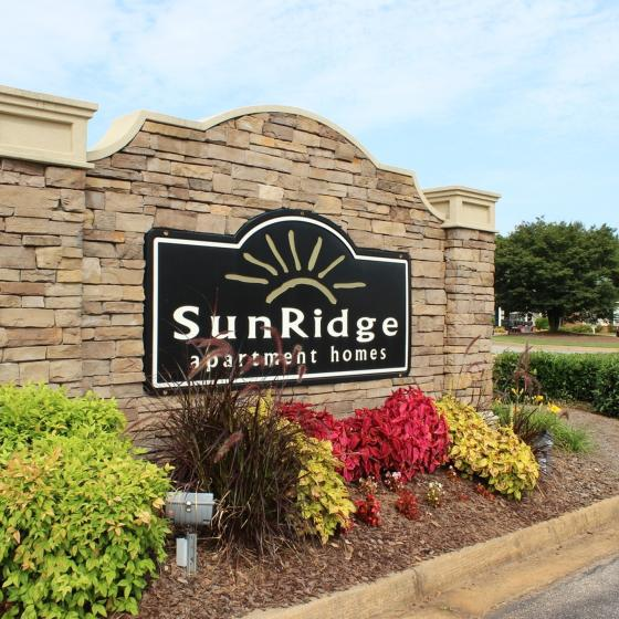 SunRidge Apartments Entrance Sign