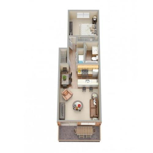1 Bed / 1 Bath Apartment In Warner Robins GA
