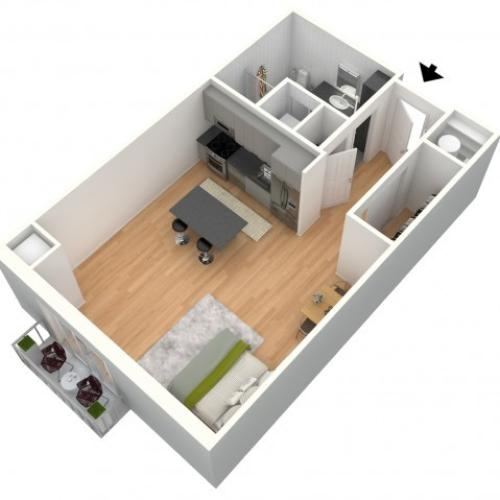 5th Province 1-Bedroom Apartment Floor Plan