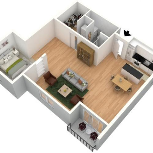 Rotelle 3D Furnished Floor Plan