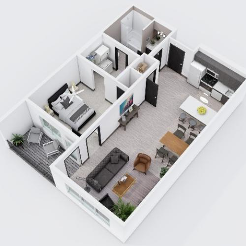 One Bedroom, One Bathroom City Scape 1B11