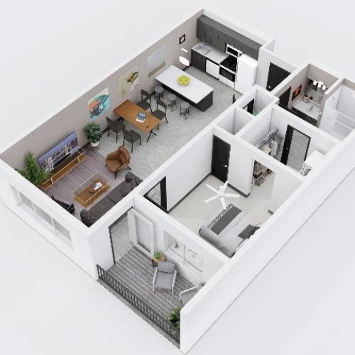 One Bedroom, One Bathroom City Scape 1B6
