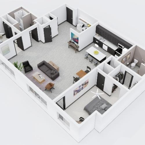 Two Bedroom, Two Bathroom City Scape 2B10