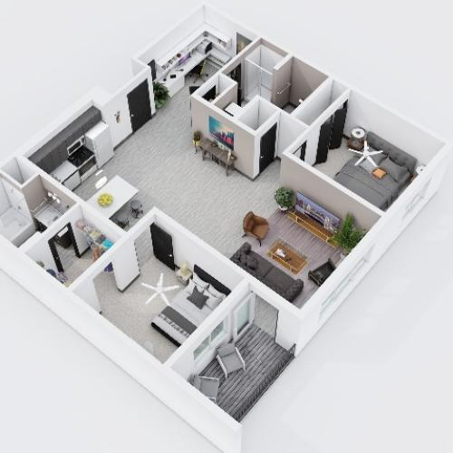 Two Bedroom, Two Bathroom City Scape 2B8