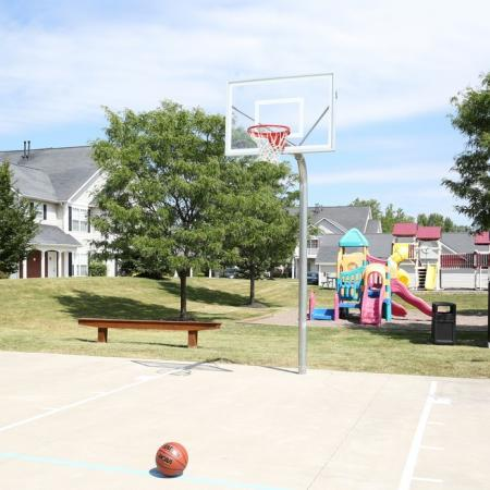 Autumn Creek apartments | basketball court