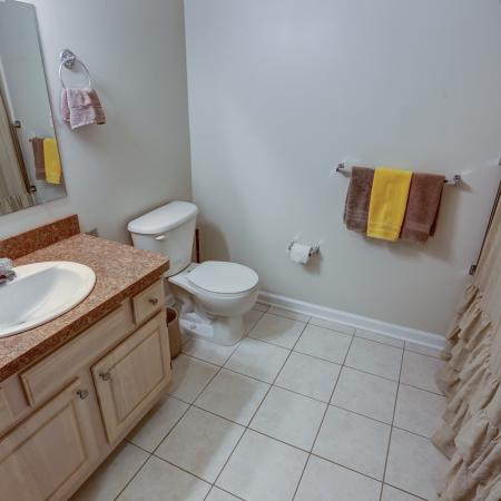 Bathroom with New High Definition Countertops at Williamsville NY Apartment Rentals | StoneGate Apartment Homes