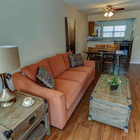 Living Space in 2 Bedroom | Windsong Place Apartments