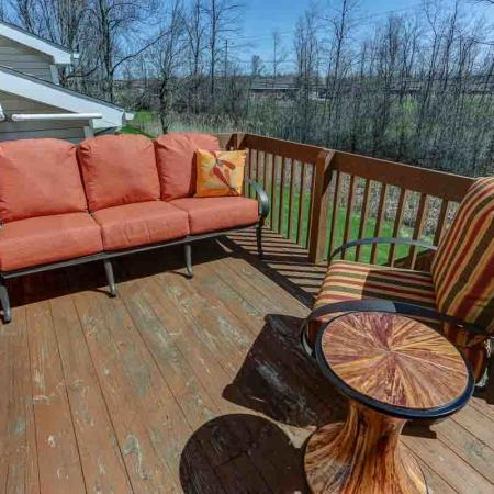Deck Area | Windsong Place Apartments