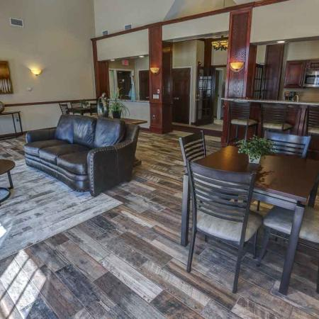 Beautiful Newly Renovated Clubhouse Area |