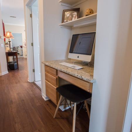 Built-in Computer Desk | Williamsville Apartments | Renaissance Place Apartments