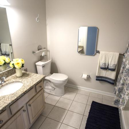 Upscale Features at Spacious Bathroom | Apartment In Syracuse Ny | StoneGate Apartment Homes