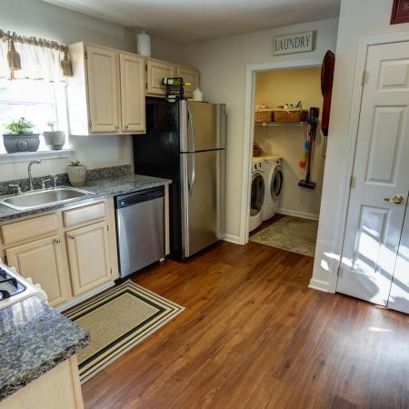 Pantry and Laundry Room off Kitchen at Williamsville Apartments | StoneGate Apartment Homes For Rent