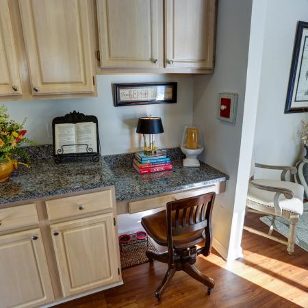 Built-in Writing Desk at Williamsville Apartments For Rent | StoneGate Apartment Homes