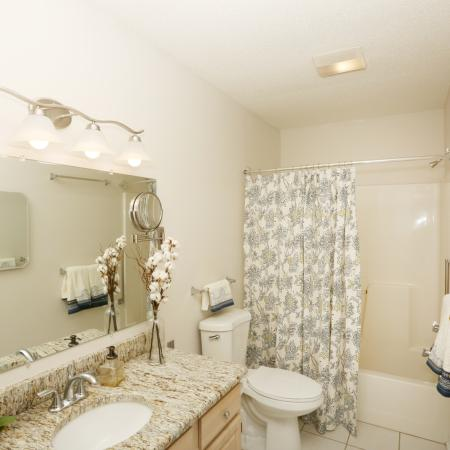 Master Bathroom in Townhome at Apartments for rent in Williamsville | StoneGate Apartment Homes