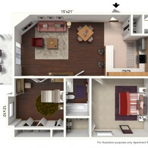 Floor Plan 1 | Windsong Place Apartments
