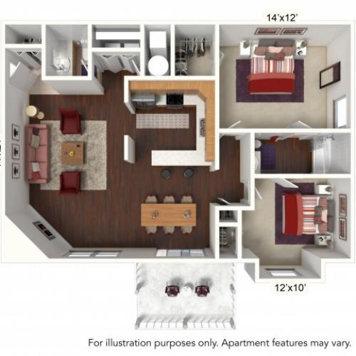 Floor Plan 2 | Windsong Place Apartments