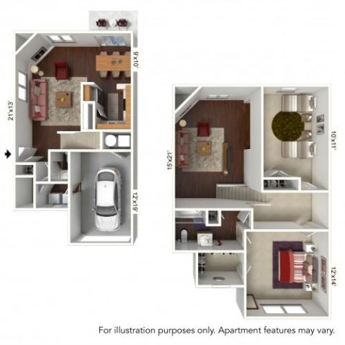 Floor Plan 6 | Windsong Place Apartments