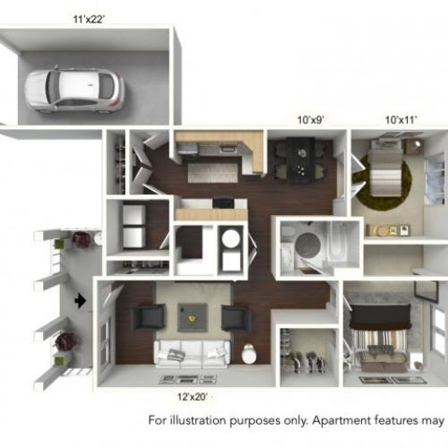 2 Bdrm Floor Plan | Williamsville ApartmentsApartments For RentApartments Williamsville Ny | StoneGate Apartment Homes