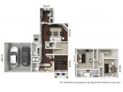 Floor Plan 1 | Apartments For Rent In Williamsville Ny | StoneGate Apartment Homes