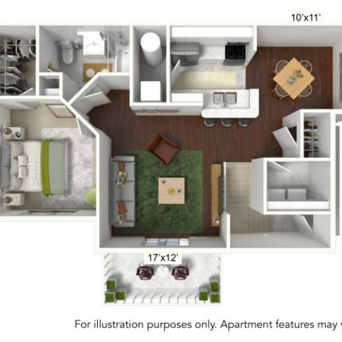 1 Bdrm Floor Plan | Luxury Apartments Buffalo Ny | Autumn Creek Apartments