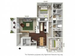 Floor Plan 2 | Luxury Apartments Buffalo Ny | Autumn Creek Apartments