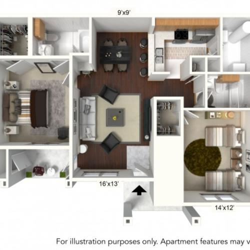 Floor Plan 1 | Apartments For Rent In Williamsville Ny | Renaissance Place Apartments