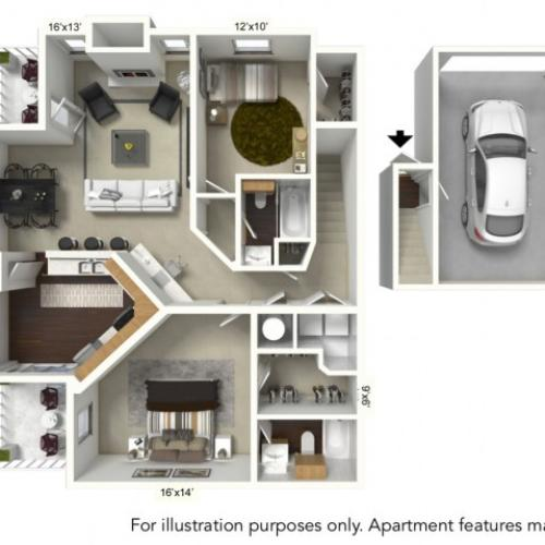 Floor Plan 13 | Apartments For Rent | Renaissance Place Apartments