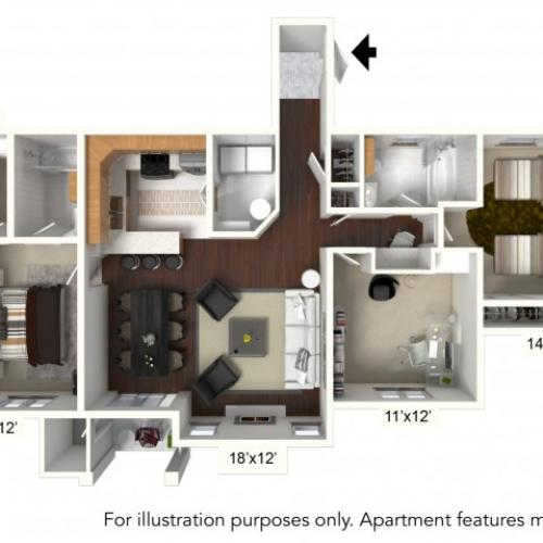Floor Plan 15 | Williamsville Ny Apartments | Renaissance Place Apartments