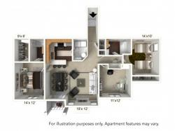 Floor Plan 18 | Apartments For Rent Williamsville Ny | Renaissance Place Apartments