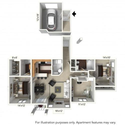 Floor Plan 19 | Williamsville Ny | Renaissance Place Apartments