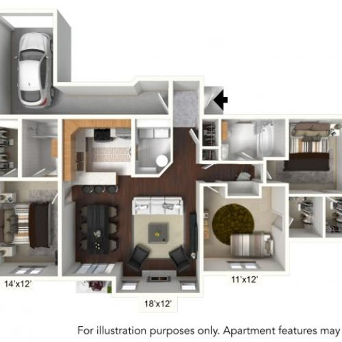 Floor Plan 22 | Williamsville Apartments | Renaissance Place Apartments