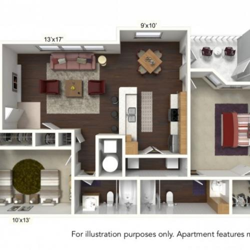 Floor Plan 3 | Windsong Place Apartments