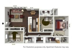 Floor Plan 5 | Windsong Place Apartments