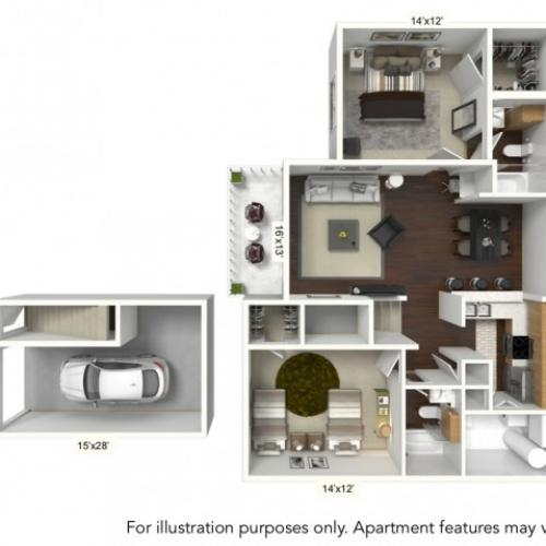 Floor Plan 5 | Williamsville Ny Apartments | Renaissance Place Apartments