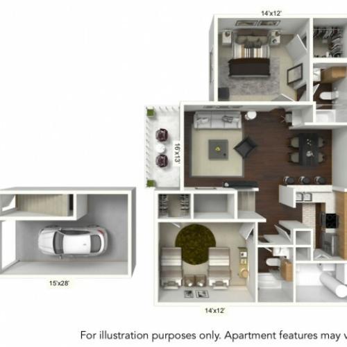 Floor Plan 5 | Williamsville Ny Apartments | Renaissance Place Apartments