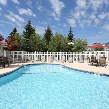 Autumn Creek apartments pool in East Amherst