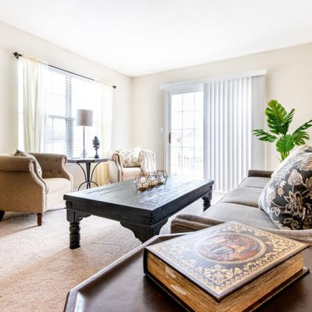 Living Area, 2 Bedroom 1.5 Bath| Apartments for rent in East Amherst, NY | Autumn Creek Apartments