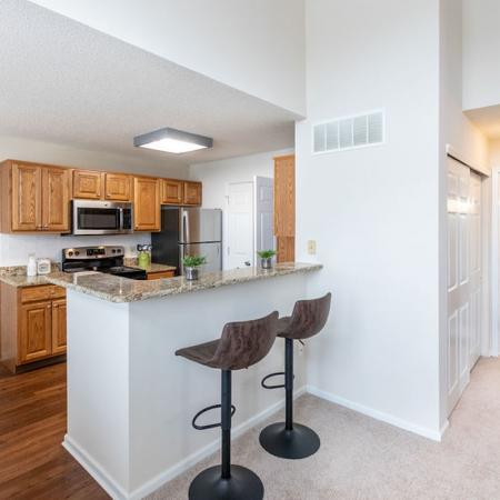 2 Bedroom Kitchen Space| Windsong Place Apartments