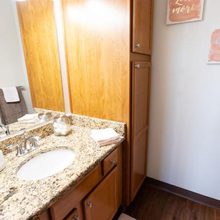 Bathroom Area | Windsong Place Apartments