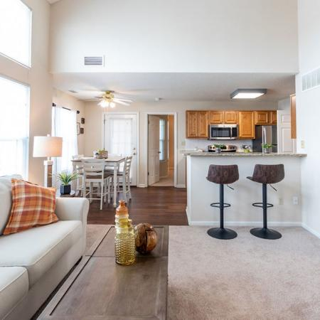 Living Room, Kitchen Area | Apartments for rent in Buffalo , NY | Windsong Place Apartments