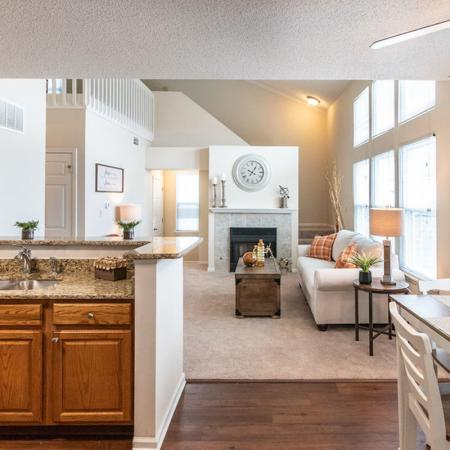 Kitchen Area, Living Room | Apartments for rent in Buffalo , NY | Windsong Place Apartments