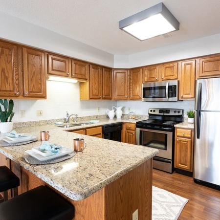Bar and Kitchen Space| Windsong Place Apartments