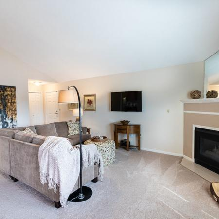 Fireplace in select units | Windsong Place Apartments