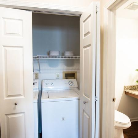 Hallway and Laundry Area | Windsong Place Apartments