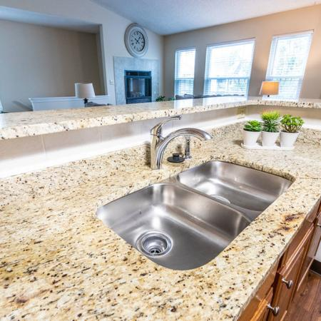 Stainless Steel Sink in Open Island | Apartments Buffalo NY | Windsong Place