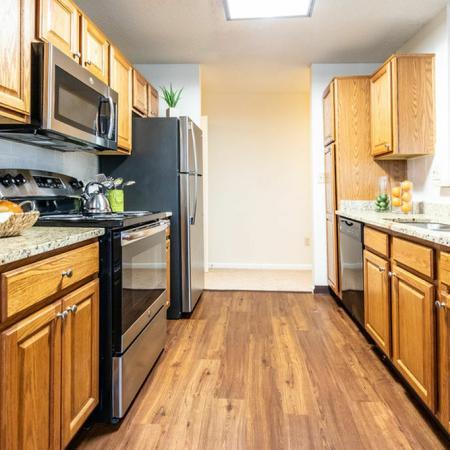Wood-Themed Kitchen | Apartments Buffalo NY | Windsong Place