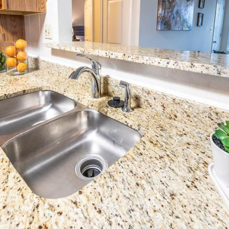 Stainless Steel Kitchen Sink | Buffalo Ny Luxury Apartments | Windsong Place