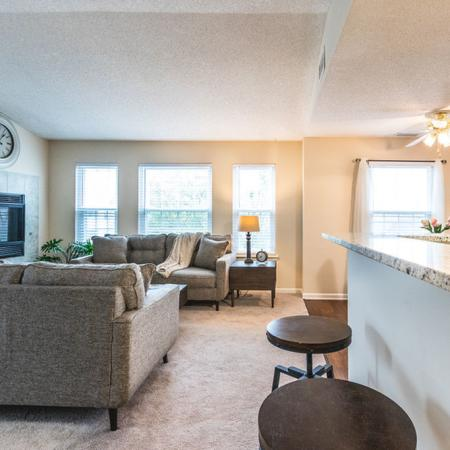Living/Dining Area with Fireplace Elegant Living Area | Buffalo Ny Luxury Apartments | Windsong Place