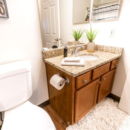 Plenty of Storage in the  Bathroom | Apartments In Buffalo Ny | Windsong Place